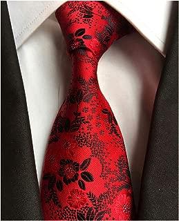 Men's Tie Cravat Jacquard Luxury Small Floral Pattern Wedding Necktie by Elfeves