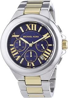 Women's Camille Two Tone Bracelet Blue Dial Watch MK5758