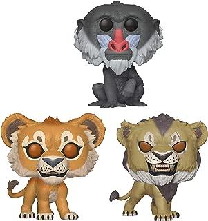 Funko Pop! Disney: Lion King Live Action - Simba, Scar and Rafiki Set of 3 - in Bubble Pouches