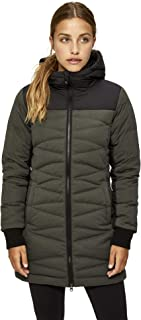 Lole Women's Faith Down Winter Jacket, Small, Khaki Heather