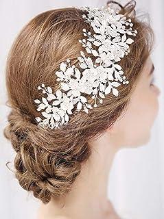 FXmimior - Accessorio per capelli da ballo di fine anno, accessorio per capelli da sposa, accessorio per capelli in stile ...