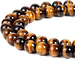 8mm Natural Yellow Tiger Eye Beads Round Gemstone Loose Beads for Jewelry Making (47-50pcs/strand)