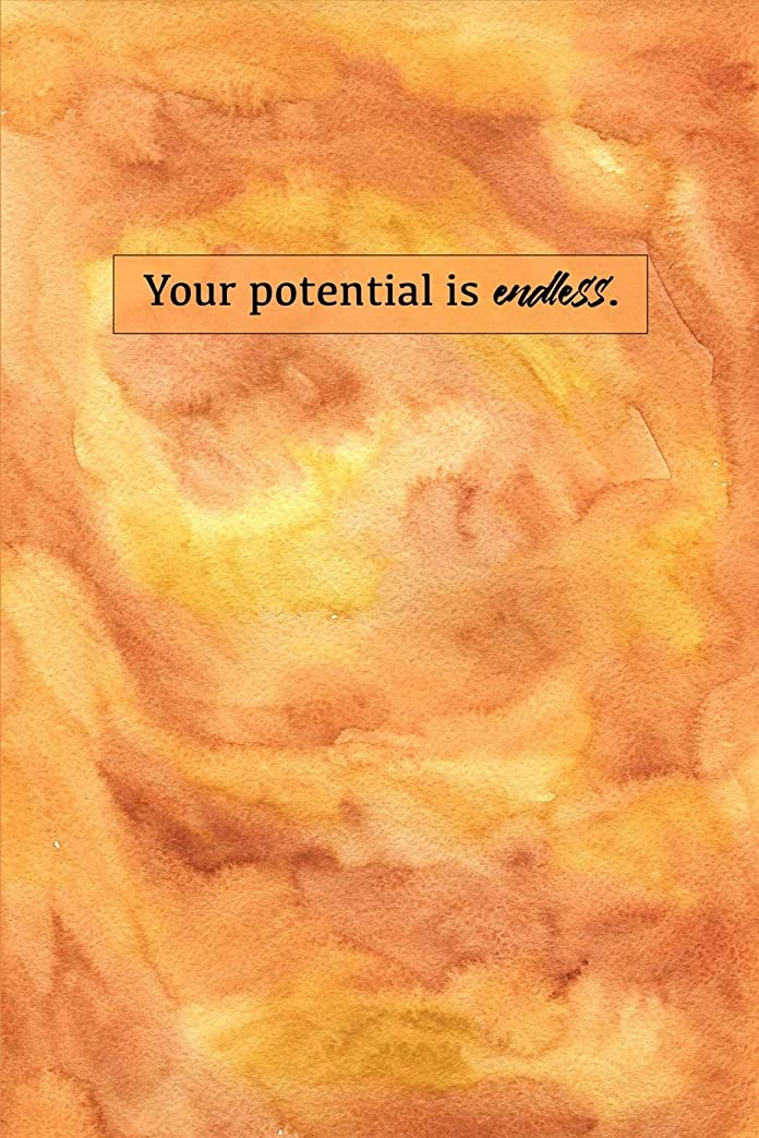 シンプトン倍率サイズYour Potential Is Endless: Sketchbook for Artist ~ Funky Novelty Gift for Art Lovers, Small Blank Sketch Book
