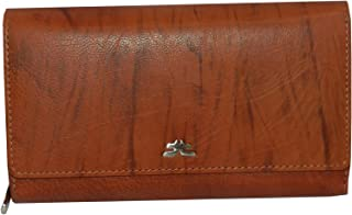 Laveri Flap Wallets For Women - Leather - Tan