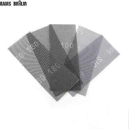 P240 : 10 pcs Wet and Dry Abrasive Mesh Net Sandpaper 115 * 280 mm Anti Block Sanding Screen Carving Stone Tools