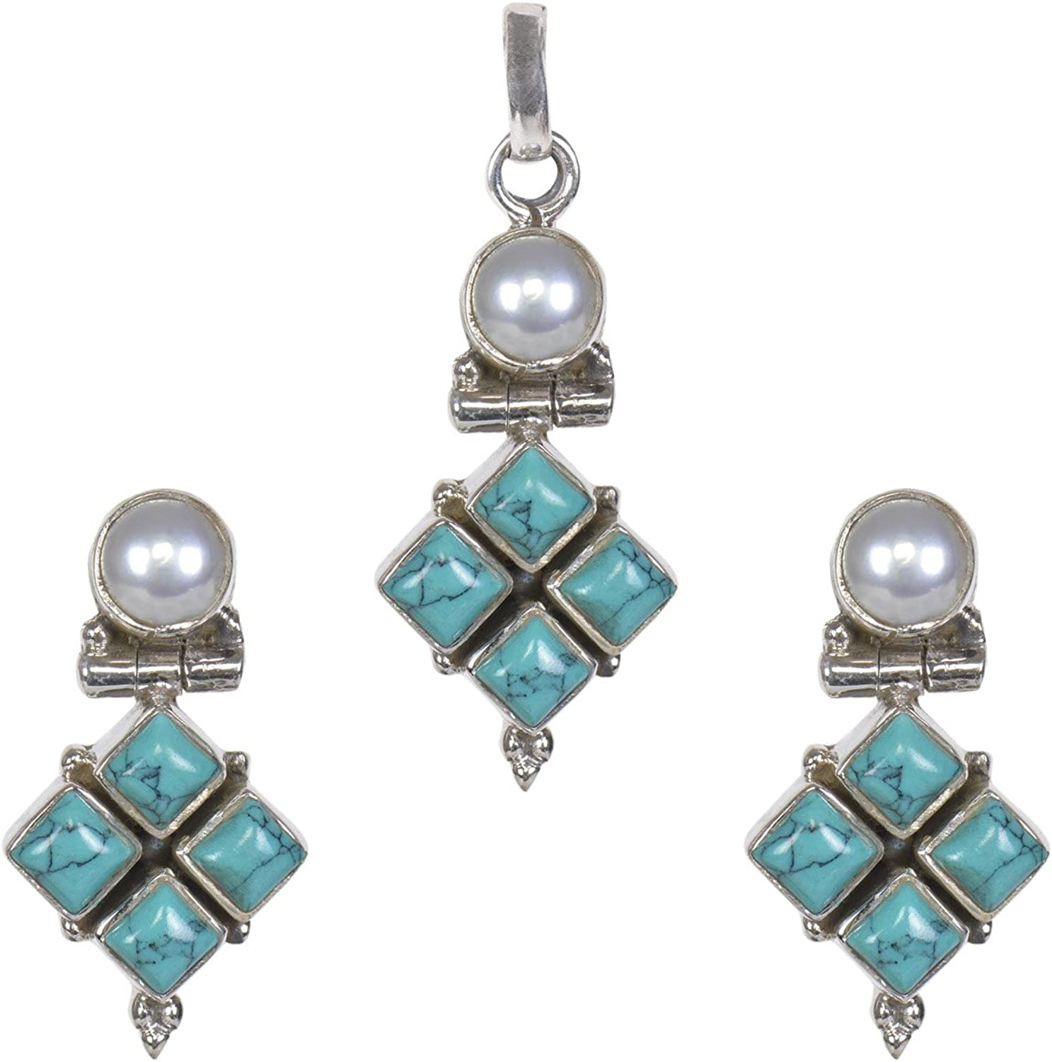 Silverwala 国内即発送 925 Sterling Silver Pearl 70%OFFアウトレット Cubic Turquoi Zirconia Ruby