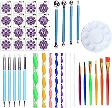 LQXZJ-DIY-handwerk, Een Set Van 40 Mandala-stippen- Doekgereedschappen, Verfsticks, Puntpennen, Pillenstokken, Verfborstel...