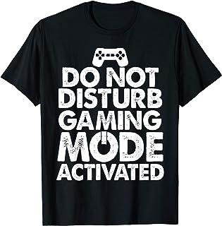 Do Not Disturb Gaming Mode Activated Shirt Gamer Boys Camiseta