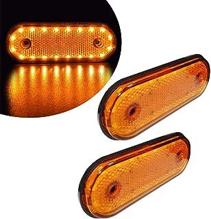 Dibiao 6 pezzi//set universale 8 LED indicatore di posizione luce laterale indicatore lampada spia sidemarkers per 12v camion rimorchio camion barca rimorchio sigillato led clearance e laterale