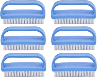 Superio Nail Brush Cleaner with Handle (6 Pack) Durable Scrub Brush to Clean Toes and Fingernails, All Purpose Hand Scrubb...