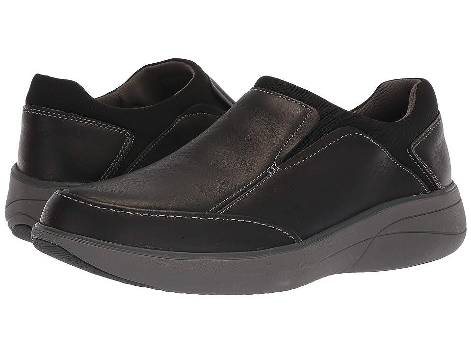 Clarks Un Rise Step (Black Leather) Men