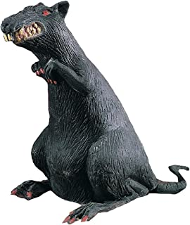 Rubies Rubber Standing Rat With Red Eyes Decoration Prop, Black - 8