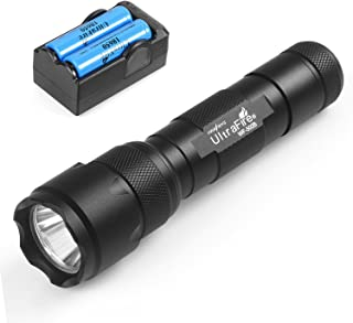 UltraFire WF-502B Flashlight, XP-E V6 LED 5-Modes, Ultra Bright 1000 Lumens hwawys led Flashlights Small Pocket Torch (with 18650 batteries and charger)