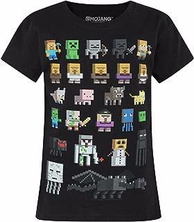 Minecraft Sprites Girl's Black Short Sleeve T-Shirt Sizes 5 to 14 Years