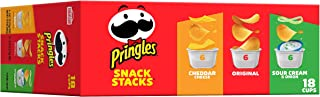 Pringles, Potato Crisps Chips, Variety Pack, Snacks On The Go, Snack Stacks, 12.9oz (18 Count)