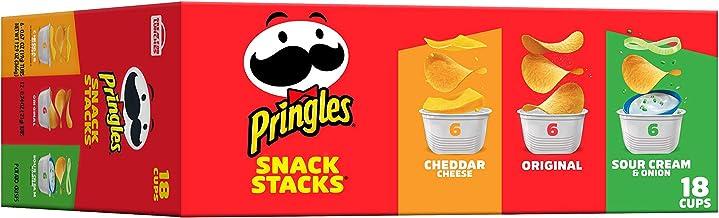 Pringles, Potato Crisps Chips, Variety Pack, Snacks On The Go, Snack Stacks, 12.9oz (18 Count)