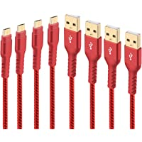 4-Pack Boreguse Nylon-Braided Micro USB Android Sync & Charging Cable