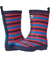 Navy Stripe Matte Rain Boots (Toddler/Little Kid)