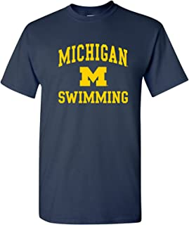 NCAA Arch Logo Swimming, Team Color T Shirt, College, University