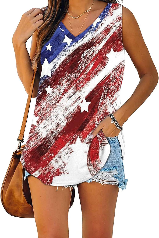 Womens Tops Womens Summer Tops, Women's Sleeveless Tank Tops Casual Flowy Summer Loose Fit Blouse Shirts