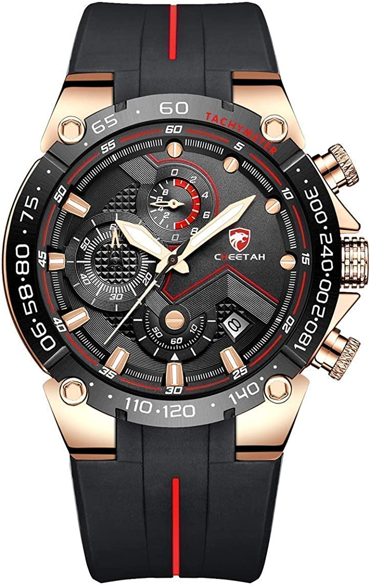 CHEETAH Mens Chronograph Watch Waterproof Military safety Price reduction Tacti Outdoor