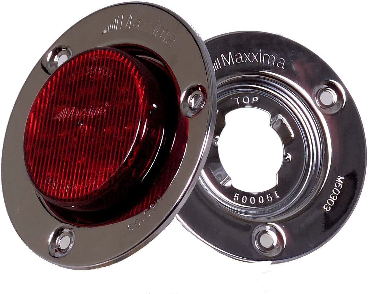 Maxxima M50103 2.5 Round Stainless Steel Security Flange for Clearance Marker Light