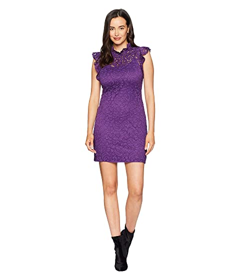 ALEXIA ADMOR Cap Sleeve Lace Sheath, Purple Royal