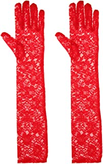 IPOTCH Vintage Long Lace Flower Gloves Opera Length Formal Evening Party Gloves