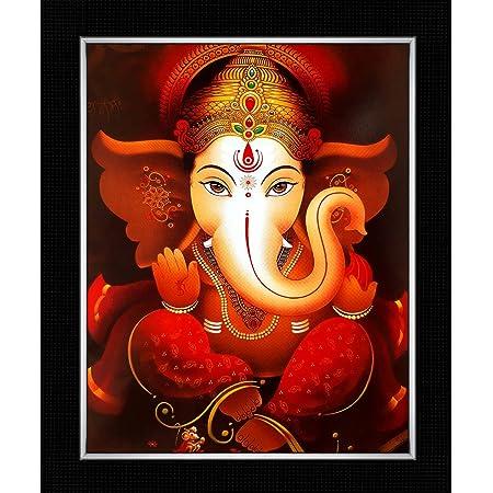 Shree Handicraft Lord Ganesha Photo Frame for Home Deco (29 cm x 24.5 cm x 1 cm,Acrylic Sheet Used)
