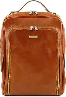 Tuscany Leather Bangkok Leather laptop backpack Honey