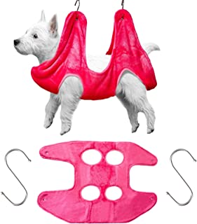 Shappy Dog Hammock Helper Towel Dog Grooming Hammock Pet Restraint Bag Multifunctional Pet Cat Bath Towel Dog for Bathing ...
