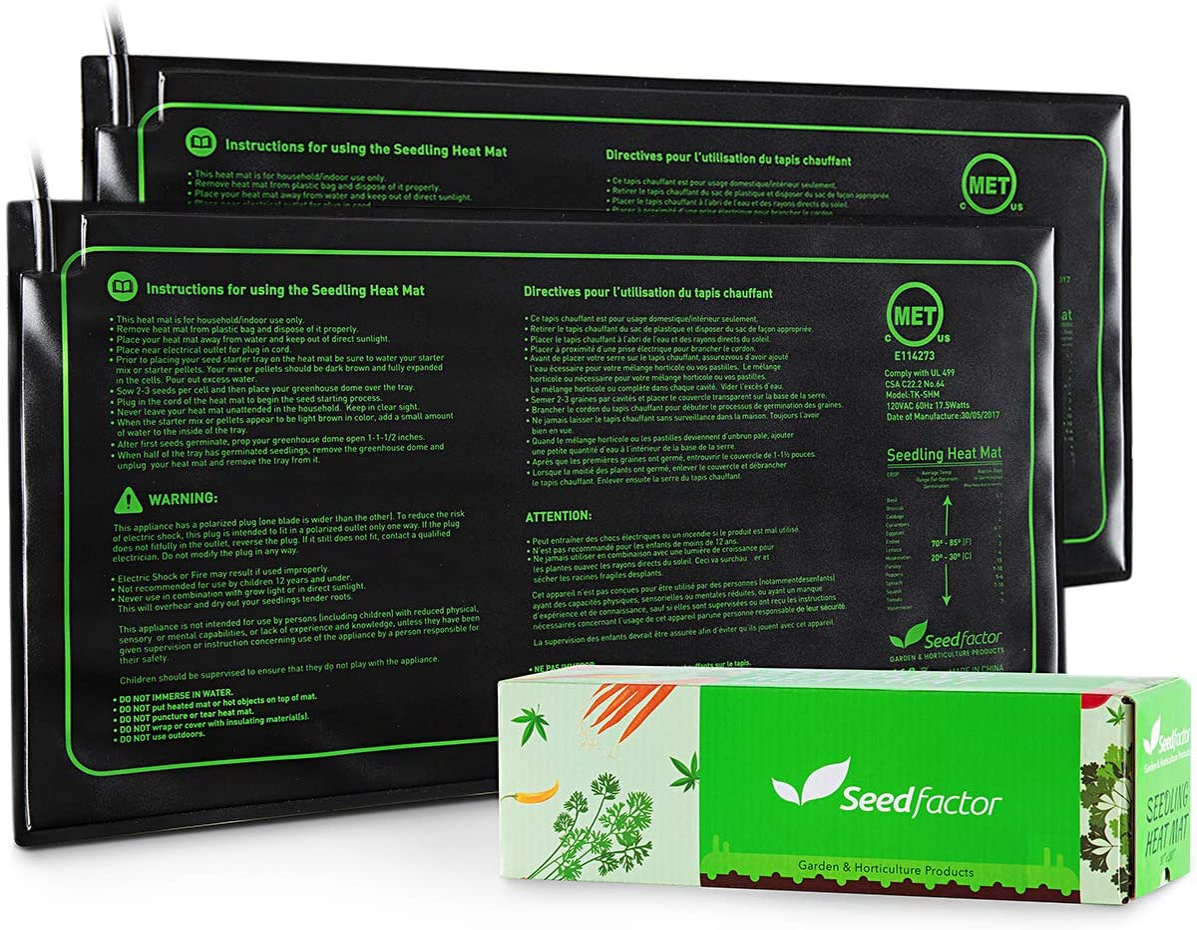 MET Certified 2 Ranking TOP9 Pack Seedling Max 45% OFF Mat Du Waterproof Heat Seedfactor