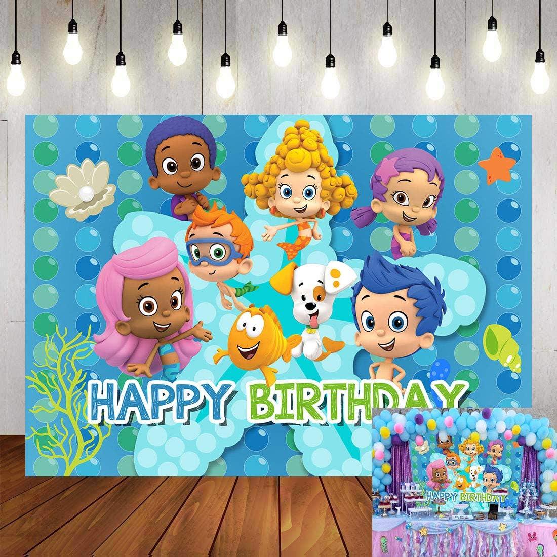 Cartoon Trust Bubble Guppies Theme New color Backdrop C Photography Ocean