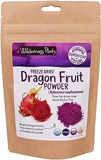 Wilderness Poets Freeze Dried Dragon Fruit Powder - Pink Pitahaya (3.5 Ounce)
