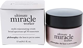 Philosophy Ultimate Miracle Worker Multi-Rejuvenating Cream for Women, Broad Spectrum SPF 30, 0.5 Ounce