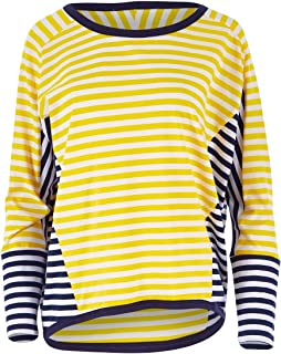 Handpicked by Birds Womens Tees Long Sleeve Contrast Stripe Top Citrustrip