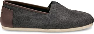 Men's Classic Canvas Slip-On, Charcoal - 10 D(M) US