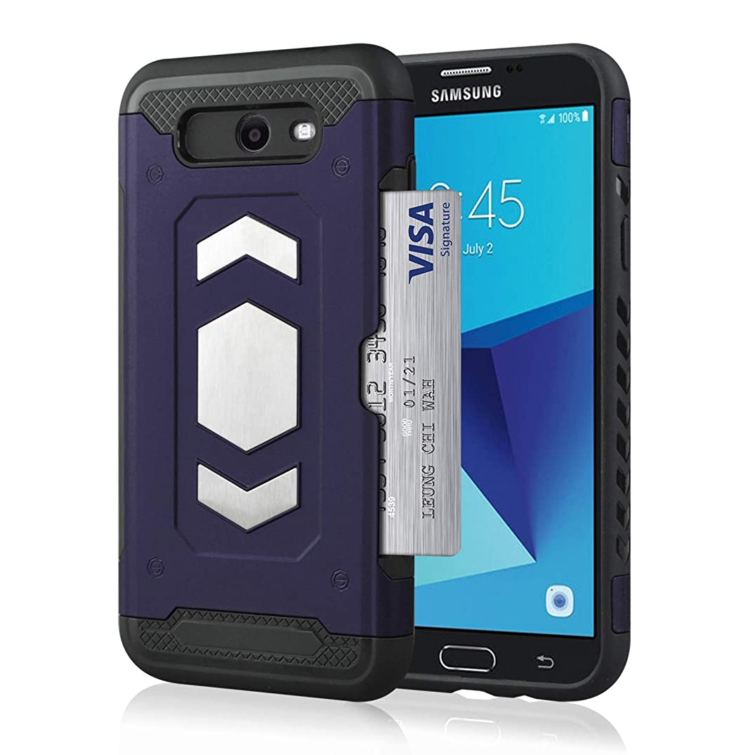 Case for Samsung Galaxy J7 2017 / J7 Pro 2017 Wallet Case Anti-Scratch Cover with Credit Card Slot Holder