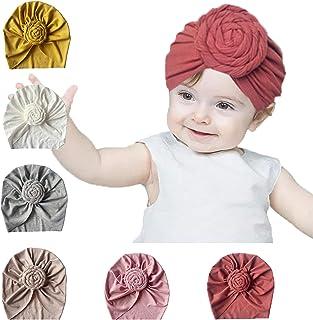 Fatu Fashion Baby Turban Hat Head Wrap Bun Knot Infant Cap Knotting Cap for Toddler Kids Hair Turbans for Baby Girls Wrap Cap