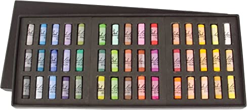 Jack Richeson Signature Assorted Round Half Stick Pastels (Set of 45)