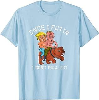 Putin Trump Riding a Bear Shirtless T Shirt