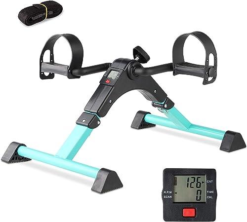 Cozylifeunion Pedal Exerciser - Portable Desk Cycle - Hand, Arm & Leg Exercise Peddling Machine - Low Impact, Adjusta...