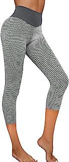 BIOUGY High Waist Yoga Pants for Women,Hip Butt Lifting TIK Tok Leggings Workout Body Shaper Control Slimming Booty Tights