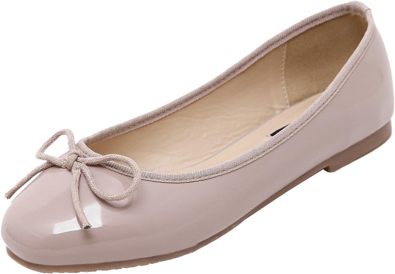 DQQ Women's Grey Slip On Ballet Flat shoes 8.5 US