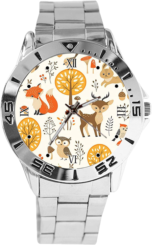Ranking TOP16 Animal and Tree Design Max 71% OFF Analog Wrist Watch Cla Dial Quartz Silver