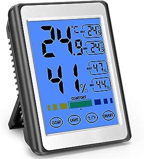 MOSUO Termómetro Higrometro Digital Interior, Termohigrómetro para Casa Ambiente Medidor de Temperatura y Humedad con Retr...