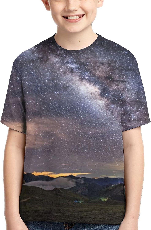 Boy's Short Sleeve Fashion Tee Shirt Top for Kids
