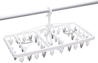 東和産業 UDカモイにも干せる角ハンガー ピンチ42個付 ホワイト 約35×70×34cm