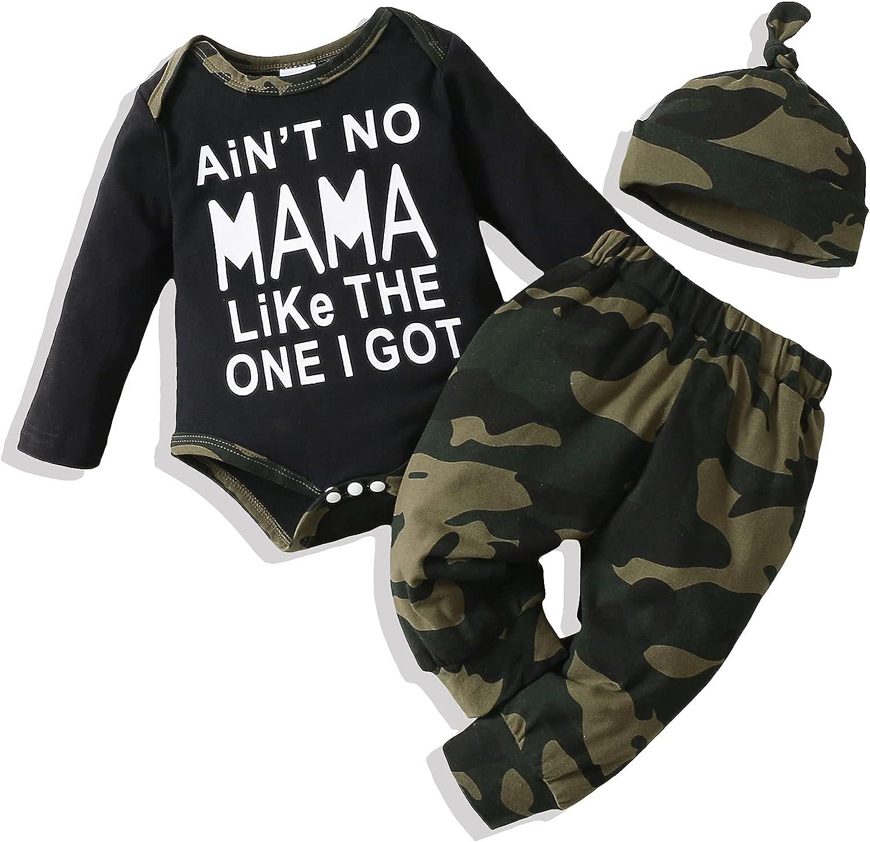 Infant Baby Boy Clothes Newborn Boy Outfits Bodysuit Romper Tops+Pants Set Baby Boy's Clothing