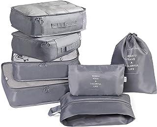 Rayking 7Pcs SET Travel Luggage Organizer Packing Cubes Set Storage Bag Waterproof Laundry Bag Traveling Accessories